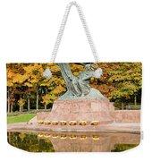 Fryderyk Chopin Statue In Warsaw Weekender Tote Bag