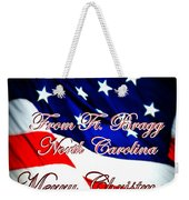 Ft. Bragg - Christmas Weekender Tote Bag