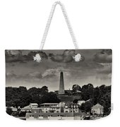 Ft Griswald Monument Black And White Weekender Tote Bag