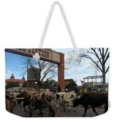Ft Worth Trail Ride At Ft Worth Stockyard Weekender Tote Bag