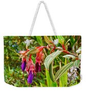 Fuchsia Along The Trail To Huayna Picchu-peru Weekender Tote Bag