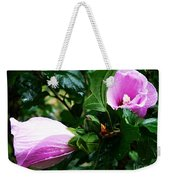 Fuchsia Flowers Laced In Droplets Weekender Tote Bag