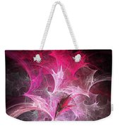 Fuchsia Fountain Abstract Weekender Tote Bag by Andee Design