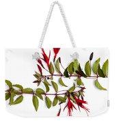Fuchsia Stems On White Weekender Tote Bag