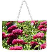 Fuchsia Zinnia Weekender Tote Bag