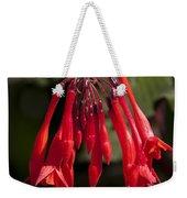 Fucshia Red Flower Weekender Tote Bag