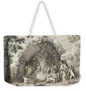 Fuegans In Their Hut, 18th Century Weekender Tote Bag