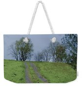 Full Moon And A Country Road Weekender Tote Bag