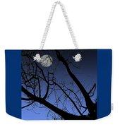 Full Moon And Black Winter Tree Weekender Tote Bag