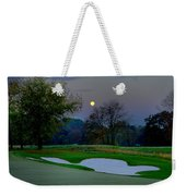 Full Moon At The Philadelphia Cricket Club Weekender Tote Bag by Bill Cannon