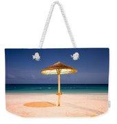 Full Moon Beach Hut Weekender Tote Bag