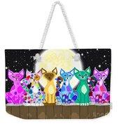 Full Moon Felines Weekender Tote Bag