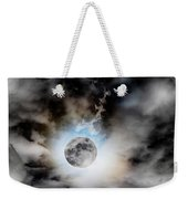 Full Moon  In Stormy Sky Weekender Tote Bag