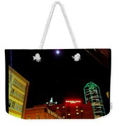 Full Moon Over Dallas Streets Weekender Tote Bag