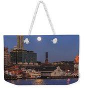 Full Moon Over Pioneer Square Weekender Tote Bag