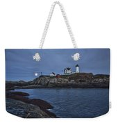 Full Moon Rise Over Nubble Weekender Tote Bag