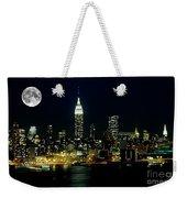 Full Moon Rising - New York City Weekender Tote Bag