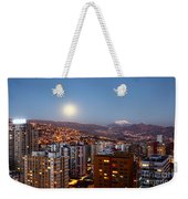 Full Moon Rising Over La Paz Weekender Tote Bag