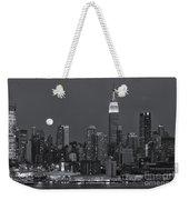 Full Moon Rising Over New York City Iv Weekender Tote Bag