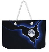 Full Moon Silver Lining Weekender Tote Bag