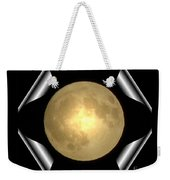 Full Moon Unfolding Weekender Tote Bag