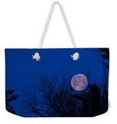 Full Moon With Trees Weekender Tote Bag