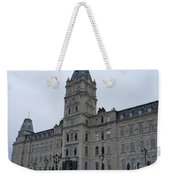 Full View Of Quebec's Parliament Building Weekender Tote Bag