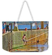 Fun At The Ferry Dock On Brier Island In Digby Neck-ns Weekender Tote Bag