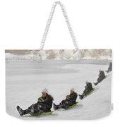 Fun In The Snow Weekender Tote Bag by Susan Candelario