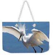 Fun Snowy Egret Weekender Tote Bag