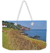 Fundy Bay Coastline Near Cliffs Of Cape D'or-ns Weekender Tote Bag