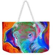 Funky Baby Elephant Blue Weekender Tote Bag