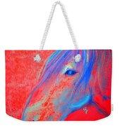 Funky Handsome Horse Blue Weekender Tote Bag