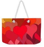 Funky Hearts Weekender Tote Bag