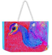 Funky Peacock Bird Art Prints Weekender Tote Bag