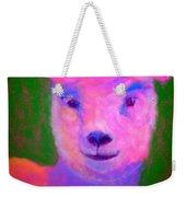 Funky Pinky Lamb Art Print Weekender Tote Bag