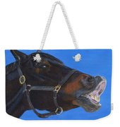 Funny Face - Horse And Child Weekender Tote Bag