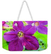 Funny Flower Faces Weekender Tote Bag