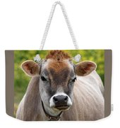 Funny Jersey Cow -square Weekender Tote Bag