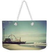 Funtown Pier Seaside Heights New Jersey Vintage Weekender Tote Bag