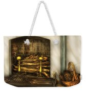 Furniture - Fireplace - A Simple Fireplace Weekender Tote Bag