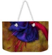 Fuschia Flower Weekender Tote Bag by Susan Candelario