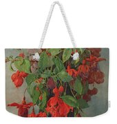 Fushia And Snapdragon In A Vase Weekender Tote Bag