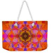 Fushia Yantra Diamond Mandala Weekender Tote Bag