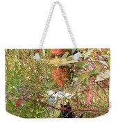 Fuzzy And The Reflected Tree Weekender Tote Bag