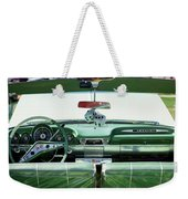 Fuzzy Dice Hanging In A Car At Antique Weekender Tote Bag