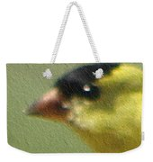 Fuzzy Gold Finch Weekender Tote Bag