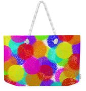 Fuzzy Polka Dots Weekender Tote Bag by Andee Design
