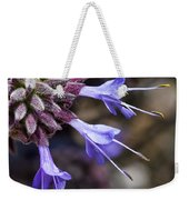 Fuzzy Purple Detail 2 Weekender Tote Bag