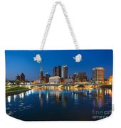 Fx2l472 Columbus Ohio Night Skyline Photo Weekender Tote Bag